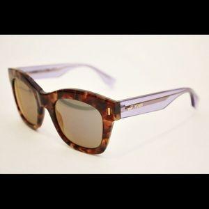Fendi Lilac & Tortoise Mirrored Sunglasses
